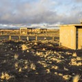 The restroom is abandoned.- Little Painted Desert