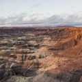 Sunset light on the Little Painted Desert.- Little Painted Desert