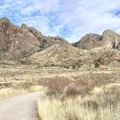 View of the Organ Mountains and the trail.  The trail is well maintained. - Dripping Springs Trail