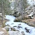 Follow the creek up to the lake.- Nambe Lake Trail