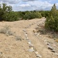 Several paths that visitors can follow.- Angel Peak National Scenic Area
