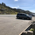 Parking lot.- Cave Rock Scenic Viewpoint