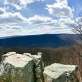 This is a relatively easy hike with great views, so it can get crowded. Go early.- Wolf Rock + Chimney Rock Loop