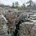 Fascinating geology at Wolf Rock.- Wolf Rock + Chimney Rock Loop
