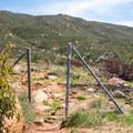 View of the trailhead.- Viejas Mountain