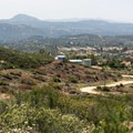 View to the south overlooking Anderson Road.- Viejas Mountain