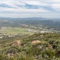 View to the east from the summit, overlooking Interstate 8 and Viejas Casino.- Viejas Mountain
