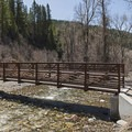 Bridge across the American Fork River.- Tibble Fork Loop