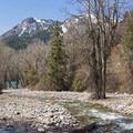 The American Fork River flowing into Tibble Fork Reservoir. - Tibble Fork Loop