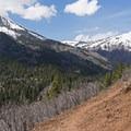 Looking west toward Box Elder Peak (11,101 ft).- Tibble Fork Loop