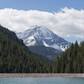 The north end of Mount Timpanogos sits above the lake. - Tibble Fork Reservoir