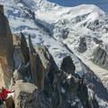 Looking back toward the ridge.- Arête des Cosmiques