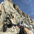 The last couple of pitches before reaching the station.- Arête des Cosmiques