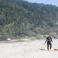 In addition to wind, Waddell Beach offers beautiful coastal scenery with a forested backdrop.- Waddell Beach Kitesurfing