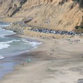 Waddell Beach turns into a kitesurfing mecca when the wind comes up each spring and summer.- Waddell Beach Kitesurfing