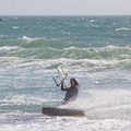 Playing in the surf.- Waddell Beach Kitesurfing