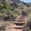 One of the many steep sections of the trail.- Climbers Loop Trail