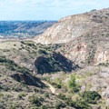 View to the west from the trail.- Climbers Loop Trail