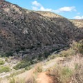 View to the north from the trail.- Climbers Loop Trail