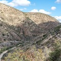 Father Junipero Serra Trail in the valley below.- Climbers Loop Trail