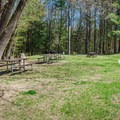 Picnic area adjacent to the parking lot.- Chesterfield Gorge Natural Area