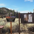 The Orderville Canyon Trailhead.- Orderville Gulch
