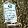 Sign at the Lower Falls Parking Area.- Purgatory Falls