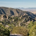 View of the hoodoos in Echo Canyon.- Massai Nature Trail