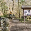 The start of the trail to Madame Sherri's Castle and the Ann Stokes Loop.- Madame Sherri's Castle