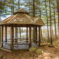 The gazebo at Front Bay Park. - Lake Winnipesaukee Back Bay Paddle