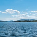 Out on Wolfeboro Bay. - Lake Winnipesaukee Back Bay Paddle