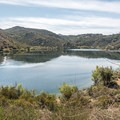 View of Lake Poway and the trail.- Lake Poway Trail