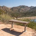 There are several places to take a break along the way.- Lake Poway Trail