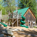 The interactive playscape is great for children to learn while playing both indoors and outside. - Squam Lakes Natural Science Center
