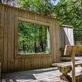 Black bear viewing deck.- Squam Lakes Natural Science Center