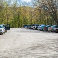 Parking area for the walk-in sites.- Hancock Campground