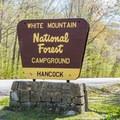 Campground entrance.- Hancock Campground