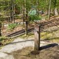 Potable water spigot.- Hancock Campground