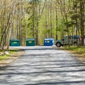 Dumpsters at Hancock Campground. - Hancock Campground