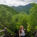 A rare chance to escape the trees and get a view of the surrounding highlands. - The Kumano Kodo: Nakahechi Route