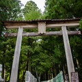 Hongu Taisha's impressive tori gate.- The Kumano Kodo: Nakahechi Route
