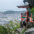 A shrine above the town of Shingu, the final destination. - The Kumano Kodo: Nakahechi Route