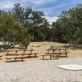 Campfire area.- El Morro Campground