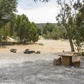 Typical campsite at El Morro.- El Morro Campground