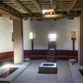The interior of the restored kiva.- Aztec Ruins National Monument