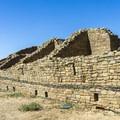North wall of Aztec Ruins.- Aztec Ruins National Monument