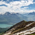 From the summit of Federispitz there are magnificent views of the Walensee as well as the snowcapped Alps to the south.- Federispitz