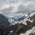 The view from the summit of Bockmattlistock looking south towards the Alps.- Bockmattlistock