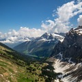 The view from Bockmattlistock looking east. The Lake Obersee can be seen in the valley.- Bockmattlistock