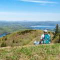 View from a Mount Sunapee ski trail. - Mount Sunapee